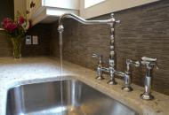 Sink, counter and back-splash in kitchen renovations